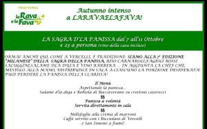 7-11 ottobre LA SAGRA DLA PANISSA