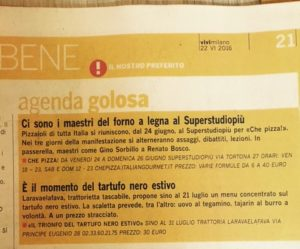 "Vivimilano, ""agenda golosa"", 24.6.2016"