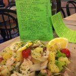Insalatona di mare e il nostro menù degli antipasti e dei primi